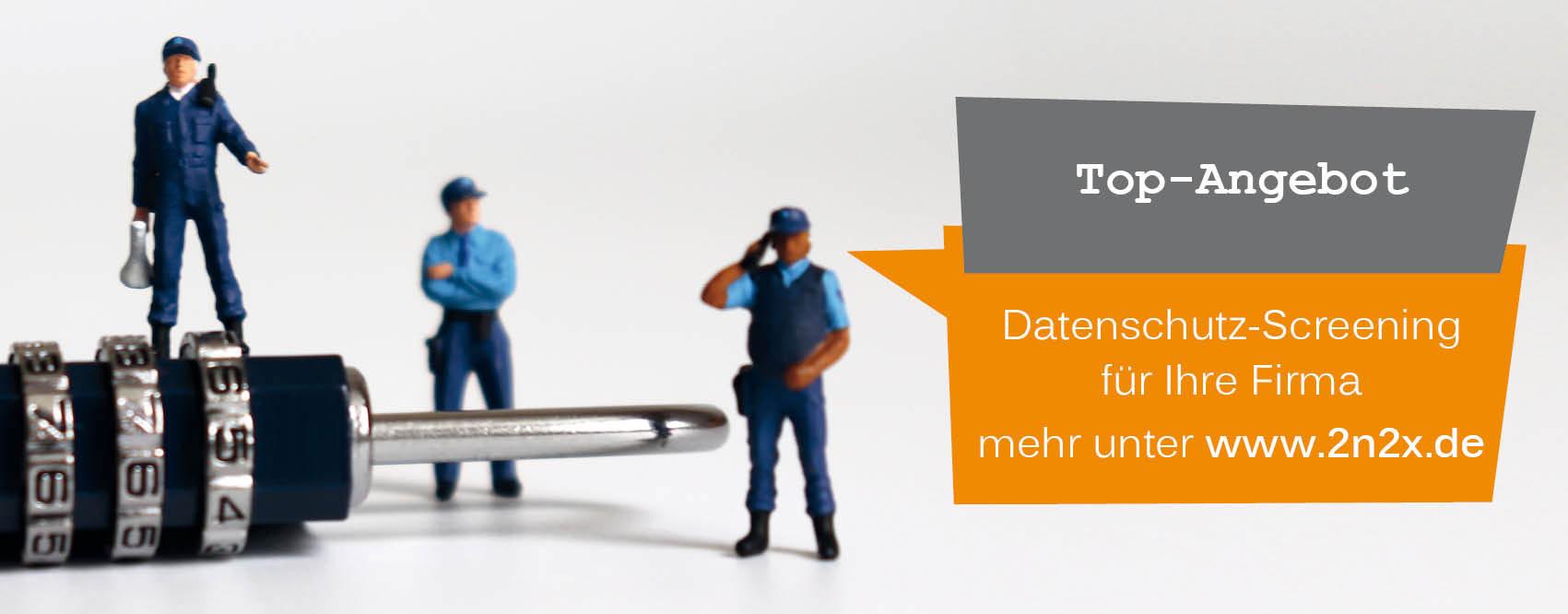 Unser Angebot: Datenschutz-Screening für nur 499 EUR